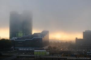 Zondag daalde er opeens een wolk neer en zat Utrecht in de waterkoude mist